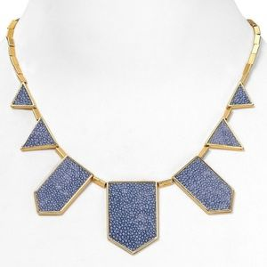 House of Harlow Light Blue Star 5 Station Necklace